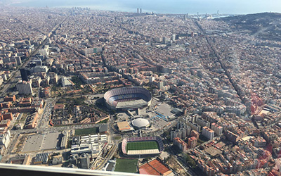 Barcelona by land, sea and air